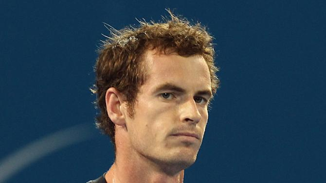 Andy Murray of Britain plays a shot in his second round match against John Millman of Australia during the Brisbane International tennis tournament in Brisbane, Australia, Thursday, Jan. 3, 2013.  (AP Photo/Tertius Pickard).