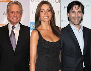 Michael Douglas/Sofia Vergara/Jon Hamm -- Getty Images / WireImage