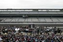 A general view of the drivers meeting for the Indianapolis 500 at the Indianapolis Motor Speedway in Indianapolis