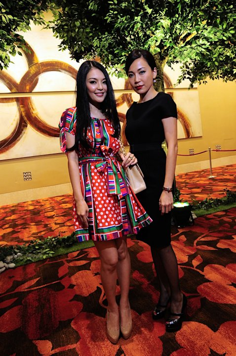 Spotted: Local actresses Apple Hong and Ong Ai Leng