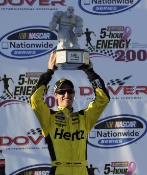 Logano wins Nationwide Series race at Dover