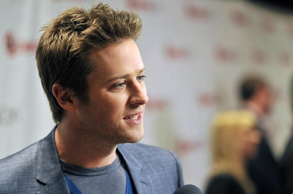"Armie Hammer, who stars in the title role in the upcoming film ""The Lone Ranger,"" is interviewed backstage at the Walt Disney Studios presentation at CinemaCon 2013 at Caesars Palace on Wednesday, April 17, 2013 in Las Vegas. (Photo by Chris Pizzello/Invision/AP)"