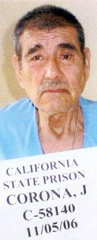 This undated photo provided by the California Department Of Corrections And Rehabilitation shows convicted murderer Juan Corona. Corona, who once was the nation's worst known serial killer, is up for parole Monday, Dec. 5, 2011, four decades after the mutilated bodies of 25 farmworkers were unearthed in orchards north of Sacramento, Calif. (AP Photo/California Department Of Corrections And Rehabilitation)