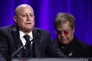 """Perelman speaks after he received his award during Elton John AIDS Foundation's 12th Annual """"An Enduring Vision"""" benefit gala at Cipriani in New York"""