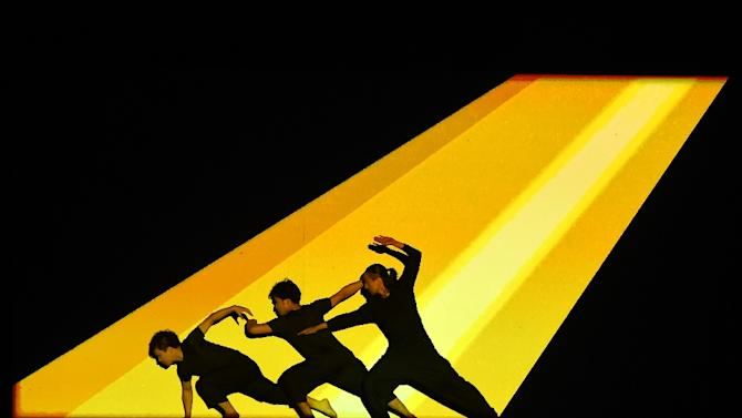 Dancers perform during the closing ceremony of the 68th Cannes Film Festival
