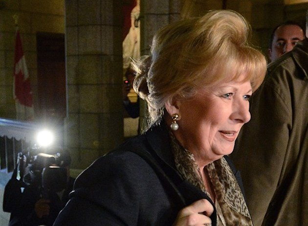 Senator Pamela Wallin arrives at the Senate on Parliament Hill in Ottawa on Wednesday, Oct. 23, 2013. THE CANADIAN PRESS/Sean Kilpatrick