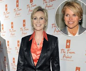 Jane Lynch / Katie Couric -- Getty Images