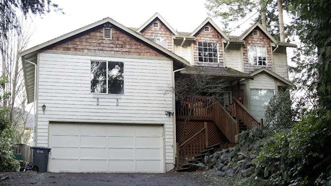 The home of U.S. Army Staff Sgt. Robert Bales, who is accused of killing 16 Afghan civilians, is shown, Friday, March 16, 2012, in Lake Tapps, Wash. Bales has not yet been charged. He was being flown Friday from Kuwait to a military detention center at Fort Leavenworth, Kan., the military's only maximum-security prison. (AP Photo/Ted S. Warren)