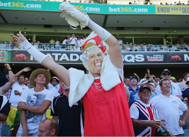 'Barmy Army' Fans Attend First Test