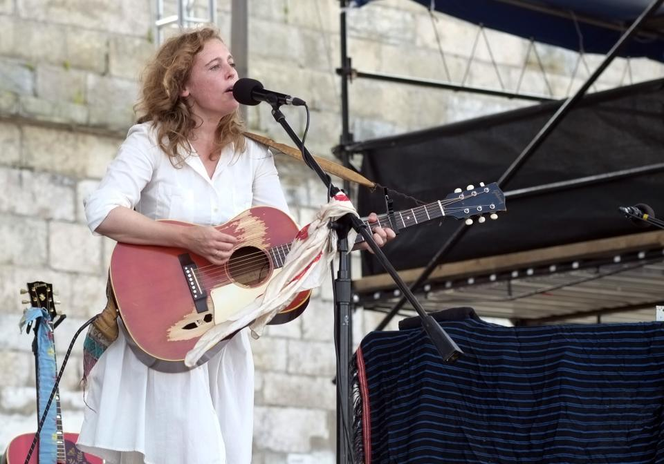 Tift Merritt performs at the 54th edition of the Newport Folk Festival in Newport, RI on Sunday, July 28, 2013. (AP Photo/Joe Giblin)