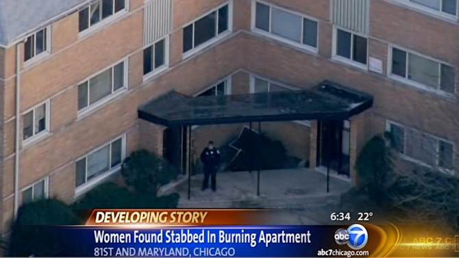 2 women stabbed before fire ID'd