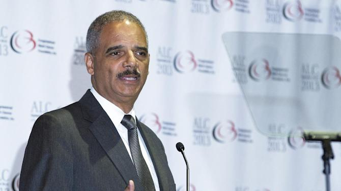 Attorney General Eric Holder, speaks about the mandatory minimum policy at the Congressional Black Caucus Foundation's 2013 annual legislative conference in Washington, Thursday, Sept. 19, 2013. (AP Photo/Manuel Balce Ceneta)