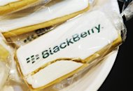 A view shows a cracked cookie with a Blackberry logo at the Blackberry Z10 launch at a Rogers store in Toronto February 5, 2013. REUTERS/Mark Blinch/Files