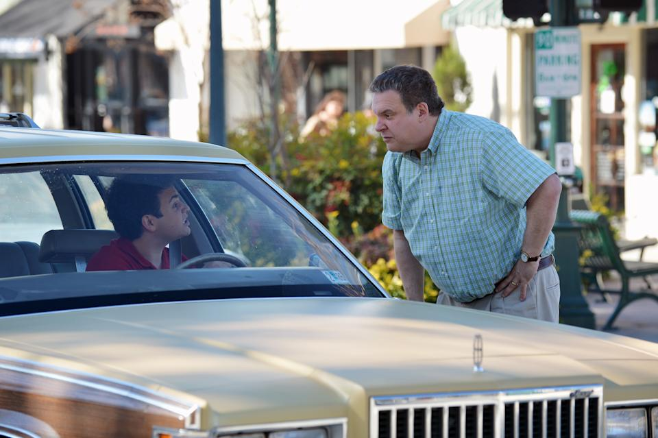 "This undated publicity image released by ABC shows Troy Gentile, left, and Jeff Garlin in a scene from ""The Goldbergs,"" premiering Tuesday, Sept. 24, at 9 p.m. EST. (AP Photo/ABC, Eric McCandless)"