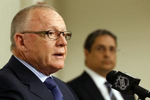 Penguins fire Bylsma, hire Rutherford as GM