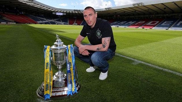 Scott Brown is determined to get his hands on the Scottish Cup this weekend