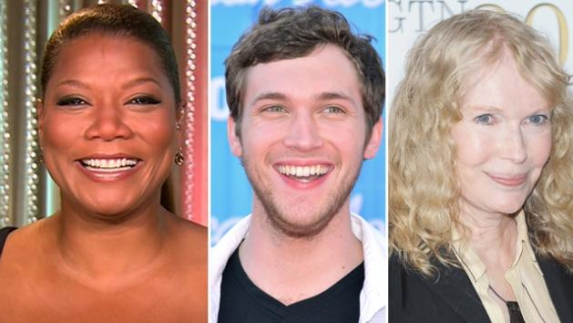 Queen Latifah, Phillip Phillips, Mia Farrow -- Access Hollywood / Getty Images