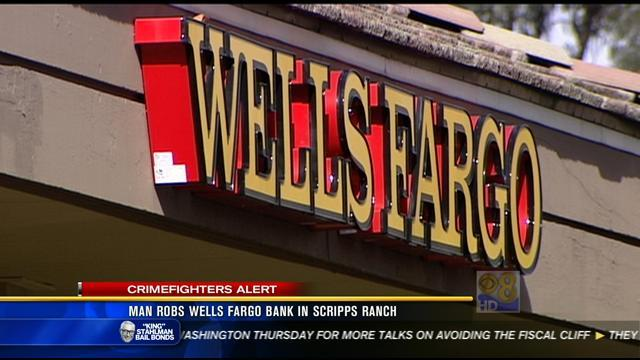 Robber hits Scripps Ranch Wells Fargo branch
