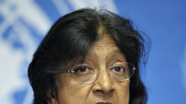 "South African Navanethem Pillay, U.N. High Commissioner for Human Rights, speaks during a press conference at the European headquarters of the United Nations in Geneva, Switzerland, Thursday, June 30, 2011. Pillay told reporters she was ""disappointed"" that China welcomed Sudan's President Omar al-Bashir during a visit this week, rather than arrest him to ensure he stands trial. She said that ""the whole world favors trial"" for al-Bashir for his role in the civil war in Sudan that killed more than 2 million people. (AP Photo/Keystone, Martial Trezzini) GERMANY OUT - AUSTRIA OUT"