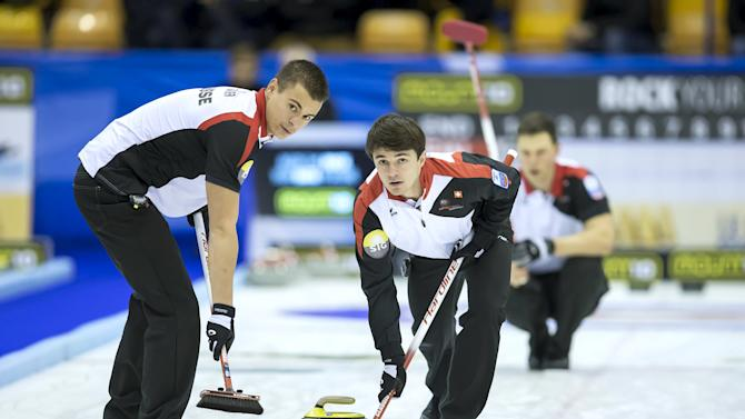 European Curling Championships 2015. A-Division men's semi-finals. Switzerland-Finland