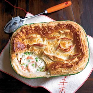Smoked fish and cider pie