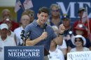 Republican vice-presidential candidate Rep. Paul Ryan, R-Wis., campaigns at The Villages, Fla., Saturday, Aug. 18, 2012.(AP Photo/Phelan M. Ebenhack)
