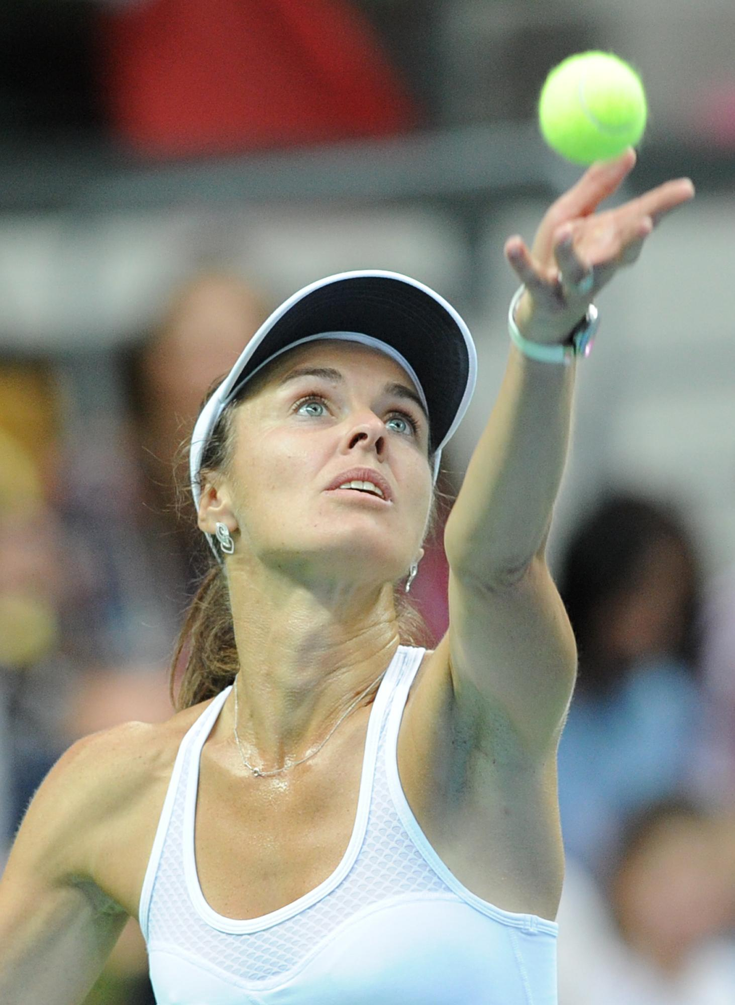 Losing return for Hingis in Fed Cup playoffs