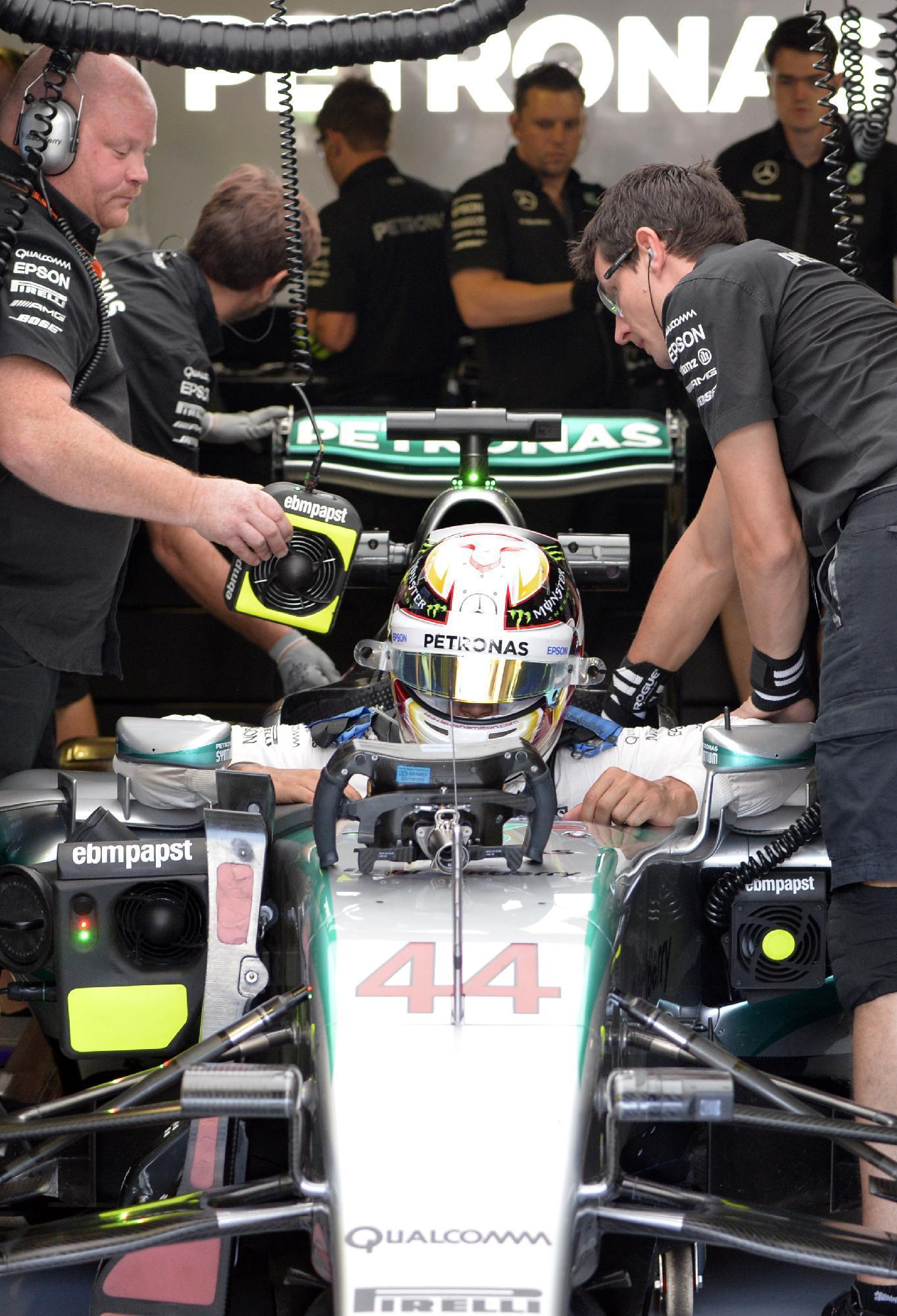 Formula One - Hamilton stays on top as Mercedes dominate again