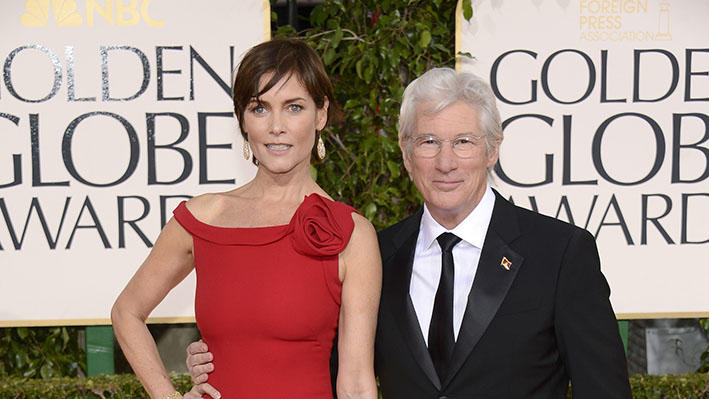 "NBC's ""70th Annual Golden Globe Awards"" - Arrivals: Carey Lowell and Richard Gere"