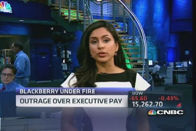 Outrage over executive pay at BlackBerry