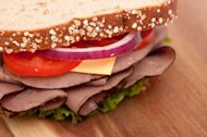 A roast beef sandwich on whole wheat bread is a healthy and delicious lunch idea, according to ChooseMyPlate.gov