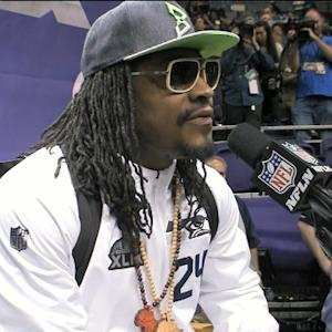 Seattle Seahawks running back Marshawn Lynch Media Day remix