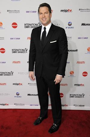"""FILE - In this Nov. 21, 2011 file photo, MSNBC anchor Thomas Roberts arrives for the International Emmy Awards in New York. The cable network on Friday, Jan. 3, 2014, gave Roberts the job as anchor of the """"Way Too Early"""" program. (AP Photo/Henny Ray Abrams, File)"""