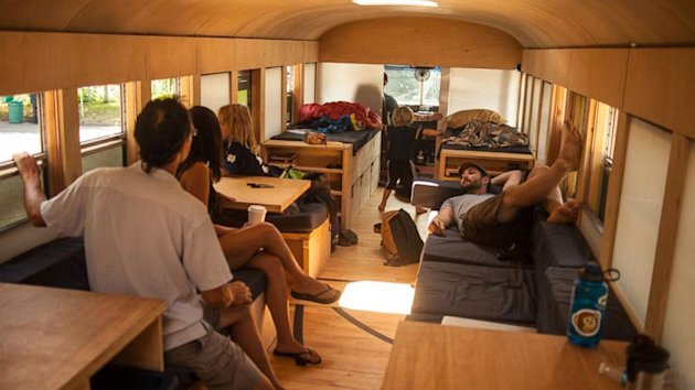 Check Out This School-Bus-Turned-Stylish-Motor-Home (ABC News)