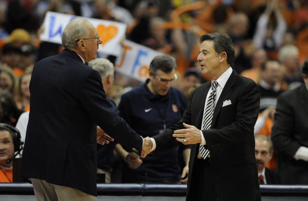 Rick Pitino, Jim Boeheim engage in friendly war of words at Big East media day