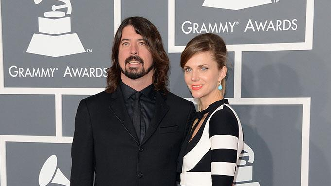 The 55th Annual GRAMMY Awards - Arrivals: Dave Grohl and Jordyn Blum