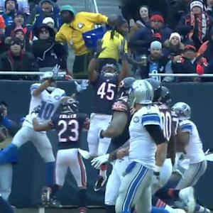 Detroit Lions quarterback Matthew Stafford picked off by Chicago Bears safety Brock Vereen