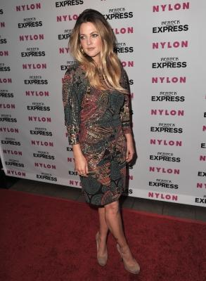 Drew Barrymore arrives to the Nylon and Express' Denim Issue Party at The London Hotel in West Hollywood, California on August 10, 2010 -- Getty Images