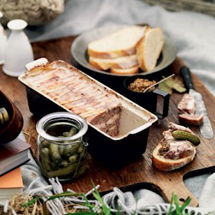 Country style pork and walnut terrine: Recipe: Food: Red Online