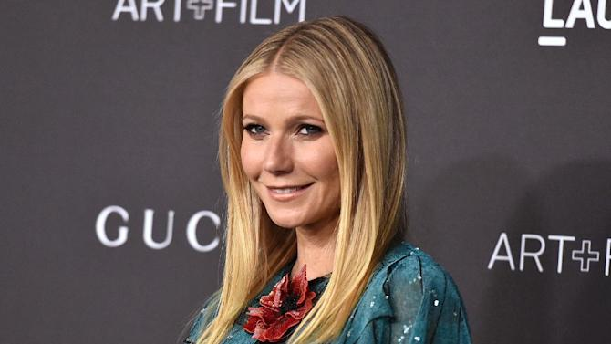 FILE - In this Nov. 7, 2015 file photo, Gwyneth Paltrow attends LACMA 2015 Art+Film Gala at LACMA in Los Angeles. Opening statements have begun in the trial of a man accused of stalking Gwyneth Paltrow. A prosecutor says Dante Soiu has stalked Paltrow for 17 years and sent her 66 letters between 2009 and 2015. (Photo by Jordan Strauss/Invision/AP, FIle)