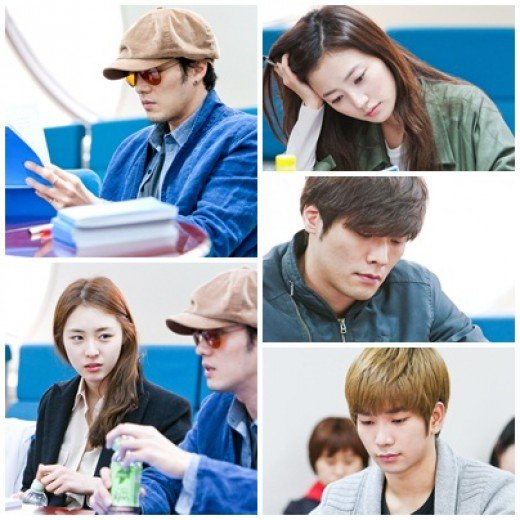 So Ji Sub, Lee Yeon Hee, Choi Daniel, MBLAQs G.O. Hold Script Reading for Ghost