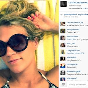 Carrie Underwood Shows No Signs of New Mom Stress in Perfectly Put Together Vacay Selfie