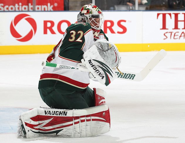   Niklas Backstrom #32 Of The Minnesota Wild Takes Getty Images