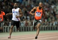 Tyson Gay and Asafa Powell contest a men&#39;s 100 metres race in Thessaloniki, Greece. Gay and Powell will step up their preparations for the Olympics with a showdown at the London Grand Prix Diamond League meeting later this month, it was confirmed Tuesday