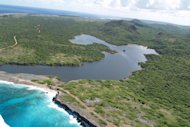 A coastal lagoon on the Caribbean island of Bonaire.