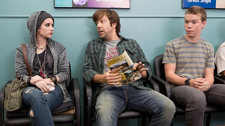 "Emma Roberts, Jason Sudeikis and Will Poulter in Warner Bros.' ""We're The Millers"" - 2013"
