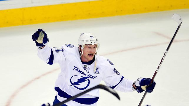 Steven Stamkos #91 Celebrates Getty Images