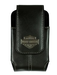FusePlusYou Harley Davidson Black Leather Cell Phone Case with Belt Hook Review image 6341 2T