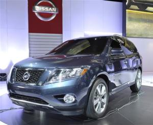 The Nissan Pathfinder concept vehicle is displayed on the final press preview day for the North American International Auto Show in Detroit