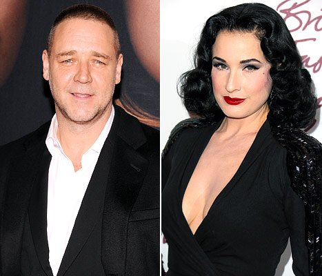 Russell Crowe Denies Dating Dita Von Teese: &quot;Friends, Not Lovers&quot;